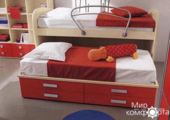 Двухуровневые кровати фото